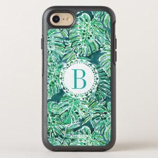 Monogram JUNGLE VIBES Green Tropical Monstera OtterBox Symmetry iPhone 8/7 Case