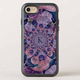 Monogram Kaleidoscope Purple And Pink Balloons OtterBox Symmetry iPhone 8/7 Case