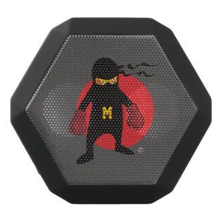 Monogram. Kawaii Cute Ninja for Nerd Geek. Black Bluetooth Speaker