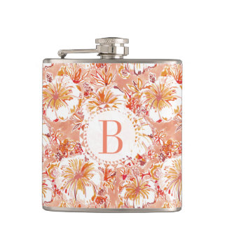 Monogram KOMBUCHA-CHA Peach Tropical Hibiscus Hip Flask