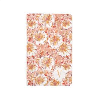 Monogram KOMBUCHA-CHA Peach Tropical Hibiscus Journal