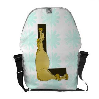 Monogram L Flexible Horse Personalised Courier Bag