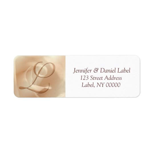 Monogram L Return Address Labels