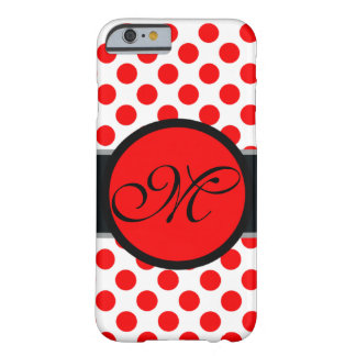 Monogram lady Polka dot - Custom  background Barely There iPhone 6 Case