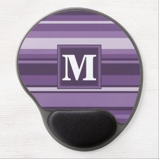 Monogram Lavender stripes Gel Mouse Pad