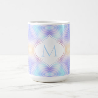 Monogram Lavender Teal Yellow Melon Coffee Mug
