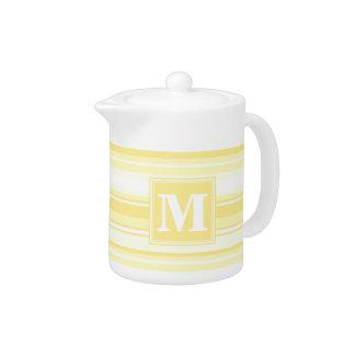 Monogram lemon yellow stripes