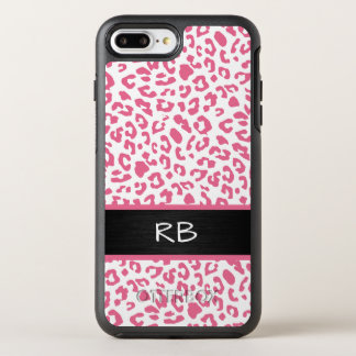 Monogram Leopard Animal Pattern OtterBox Symmetry iPhone 8 Plus/7 Plus Case