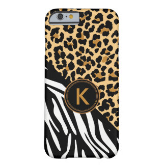 Monogram Leopard Zebra Print iPhone Case