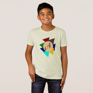 Monogram Letter A Colorful Design Eye-Catching Kid T-Shirt
