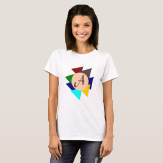 Monogram Letter A Colorful Design Eye-Catching T-Shirt