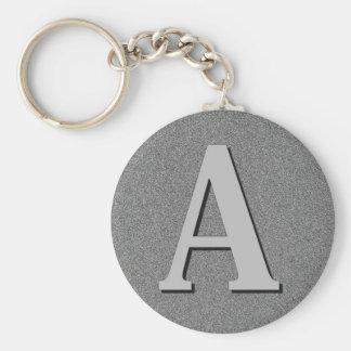Monogram Letter A Keychain