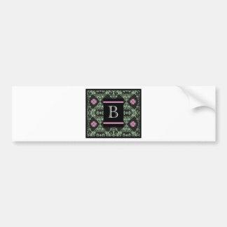 Monogram letter B Bumper Sticker
