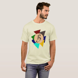 Monogram Letter B Colorful Design Eye-Catching T-Shirt