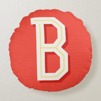 Monogram letter B pillow