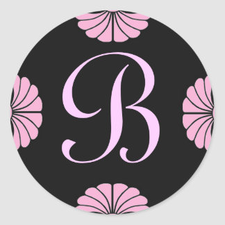 Monogram Letter B Pink Sticker