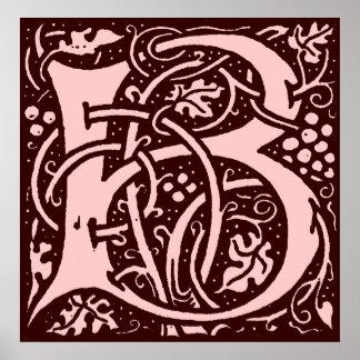 Monogram Letter B Poster