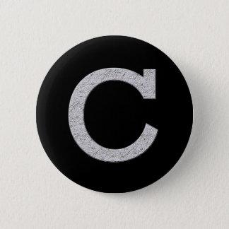 Monogram Letter C 2 Inch Round Button