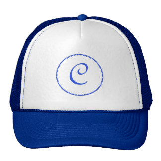 Monogram letter C hat