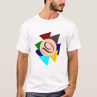 Monogram Letter D Colorful Design Eye-Catching Man T-Shirt