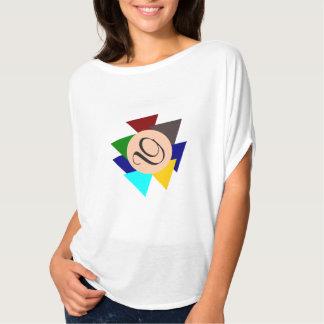 Monogram Letter D Colorful Design Eye-Catching T-Shirt