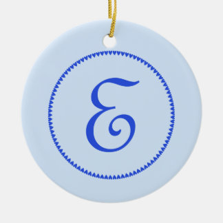 Monogram letter E ornament / pendant