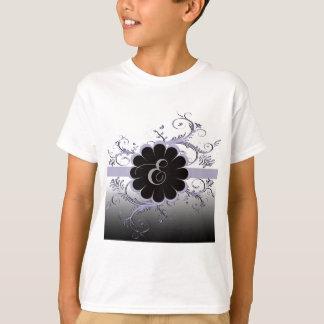 Monogram Letter E Violet Tee Shirts