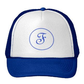 Monogram letter F hat / cap