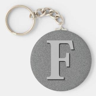 Monogram Letter F Keychain