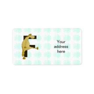 Monogram Letter F Pony