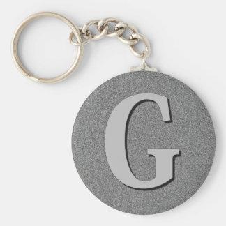 Monogram Letter G Keychain