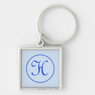 Monogram letter H keychain / keyring