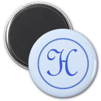 Monogram letter H magnet
