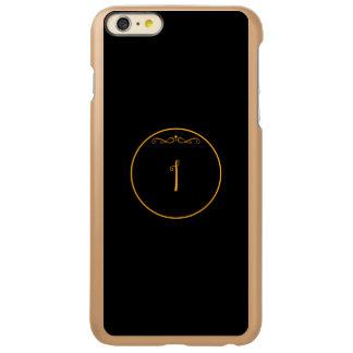 Monogram letter 'I' gold color on black
