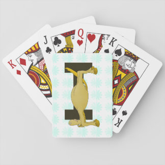 Monogram Letter I Pony Personalised Playing Cards