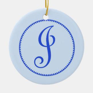 Monogram letter J hanging ornament / pendant