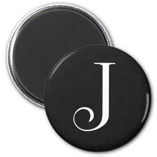 Monogram Letter J Magnet