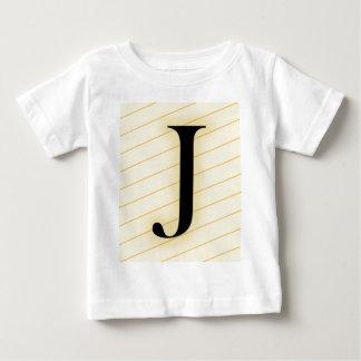 Monogram Letter - J (orange) Baby T-Shirt