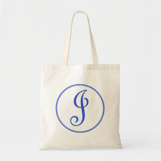 Monogram letter J tote bag