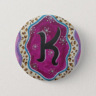 Monogram Letter K 2 Inch Round Button