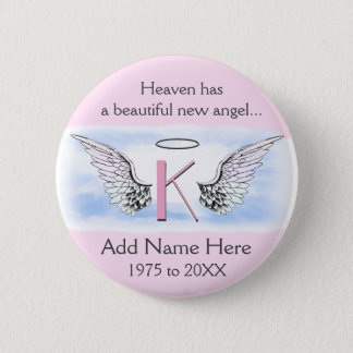 Monogram | Letter K | Add Name | Memorial 2 Inch Round Button