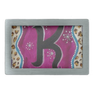 Monogram Letter K Belt Buckles