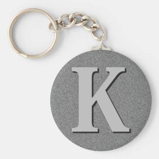 Monogram Letter K Keychain