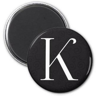 Monogram Letter K Magnet