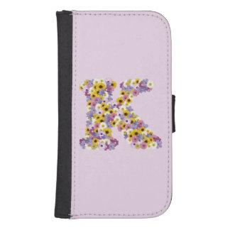 Monogram letter K Samsung S4 Wallet Case