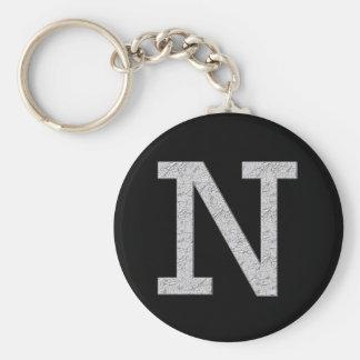 Monogram Letter N Keychain