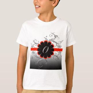 Monogram Letter O Red T-shirt