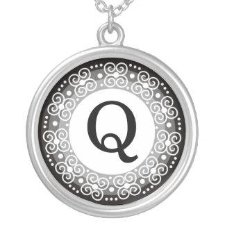 Monogram Letter Q Pendant Necklace
