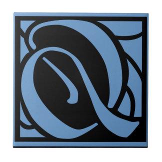 Monogram Letter Q Tiles