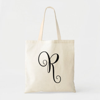 "Monogram Letter ""R"" Budget Tote-Canvas Tote Bag"